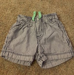 Carter's blue striped shorts size 6 mos